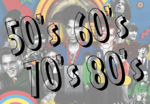 Music from the 50's to the 80's